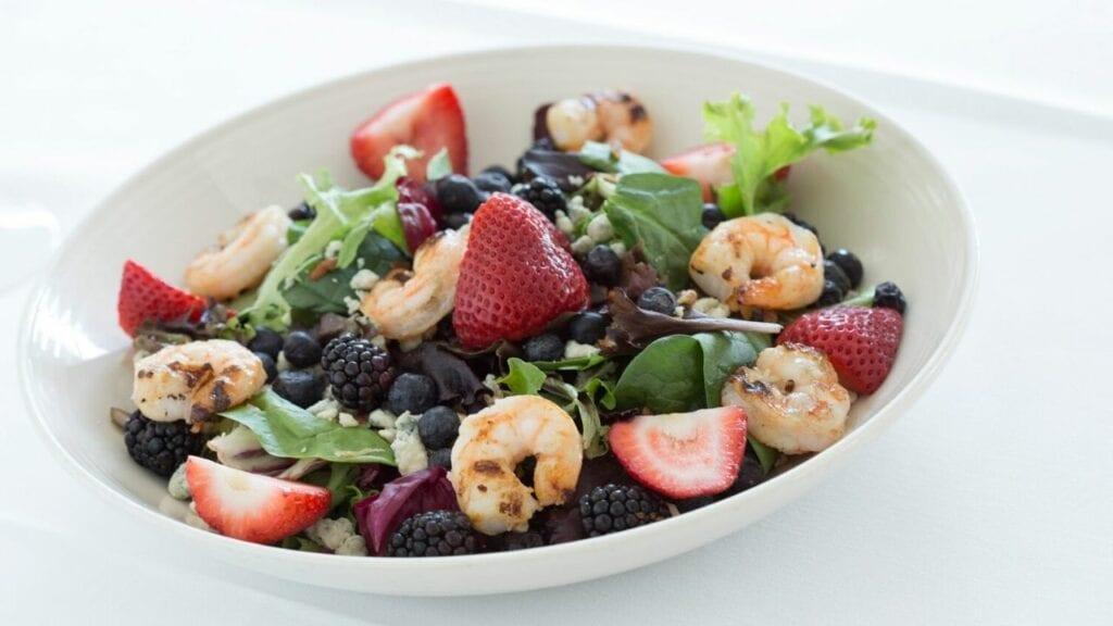 Shrimp and Berry Salad Sea Captain's House